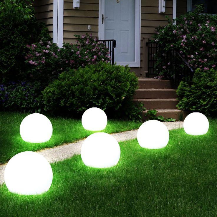 3x LED Solar Stecklampen Kugelform, Durchmesser 10 cm, SOLAR – Bild 5