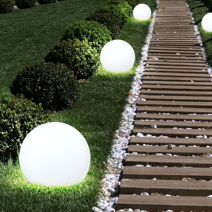 3x LED Solaire Extérieure Plug Lampe Jardin Spike Ball Pelouse Lumières Blanc  Globo 33770-3 – Bild 2