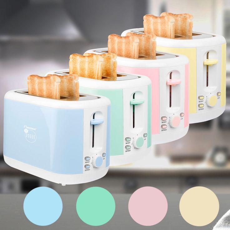 Design Toaster 2-Scheiben Brötchen Aufsatz Krümel Schublade Fach Aufwärmen Auftauen  – Bild 2