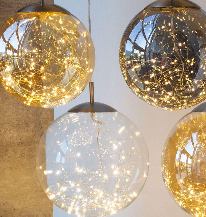 LED Pendellampe für Ihren Wohnraum mit Glaskugel LIGHTS – Bild 3