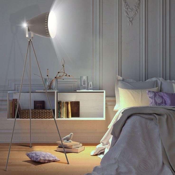 Stand Strahler Wohn Arbeits Zimmer Spot Leuchte Steh Lampe schwenkbar Nino Leuchten 40610148 – Bild 3