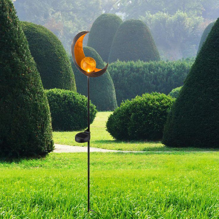 Design LED Solar Leuchte Außen Beleuchtung Dekoration Steck Lampe Mond Design Globo 33466 – Bild 6
