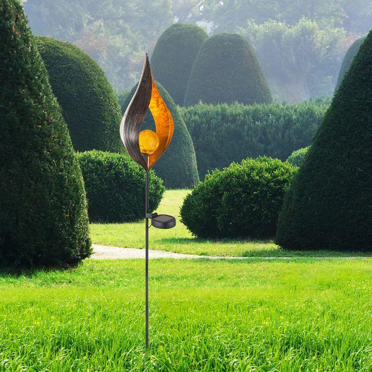 Design LED Solar Lamp Outdoor Lighting Decoration Plug Lamp Flame Design  Globo 33467 – Bild 6