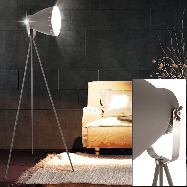 Lampadaire LED RGB avec spot réglable en Makky gris – Bild 4