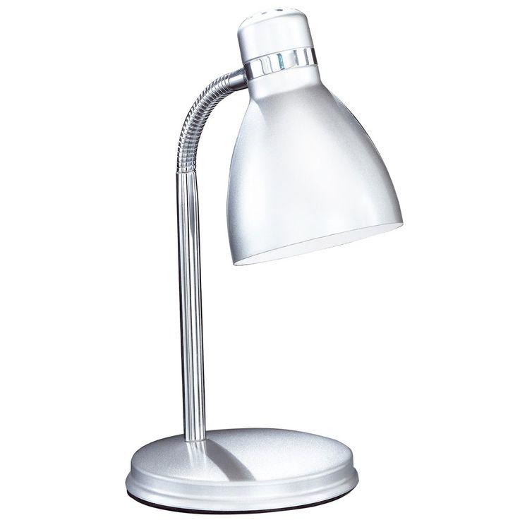 Schreib Tisch Leuchte silber Wohn Arbeits Zimmer chrom Lese Lampe flexibel Honsel Leuchten 56231 – Bild 1