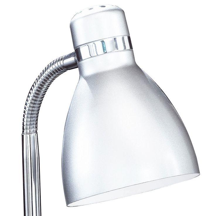 Lampe de table écriture lampe de lecture de chrome de travail salon d'argent souple  Honsel  56231 Éclairage – Bild 5