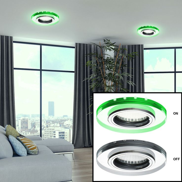 Glass ceiling lamp recessed spot deco LED lamp residential sleep room lighting green  Kanlux 24412 – Bild 4