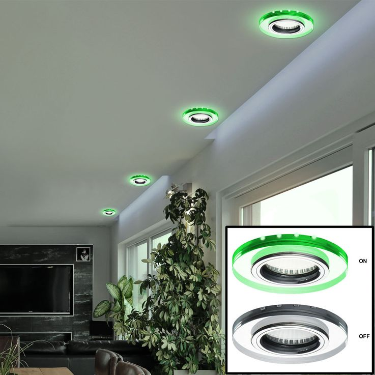 Glass ceiling lamp recessed spot deco LED lamp residential sleep room lighting green  Kanlux 24412 – Bild 5