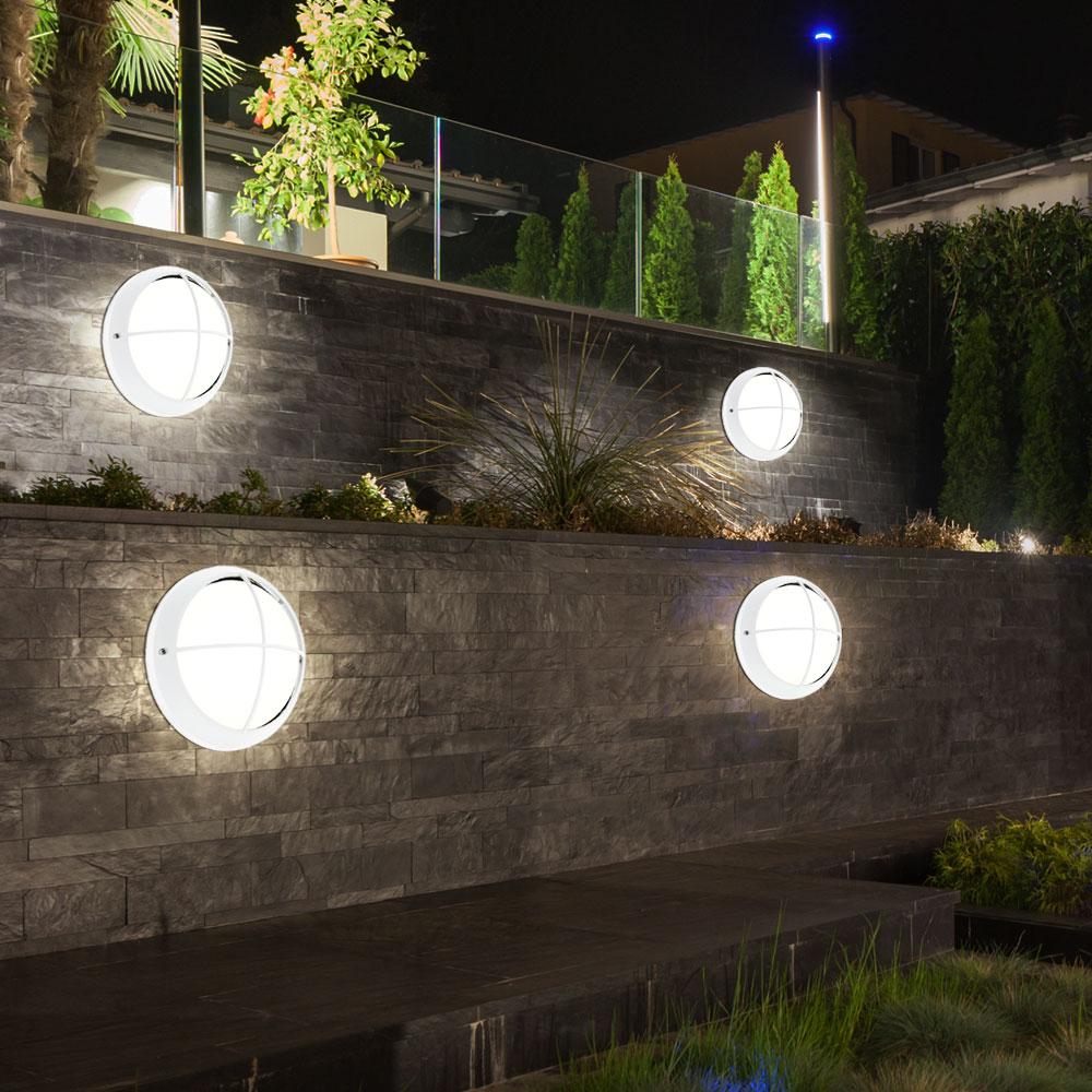 4x led decken lampen badezimmer feuchtraum wand leuchten glas au en beleuchtung ebay. Black Bedroom Furniture Sets. Home Design Ideas