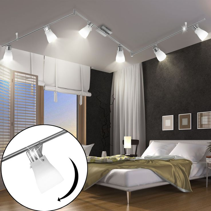 High quality LED ceiling lamp spotlight swiveling lighting lamp glass white – Bild 3