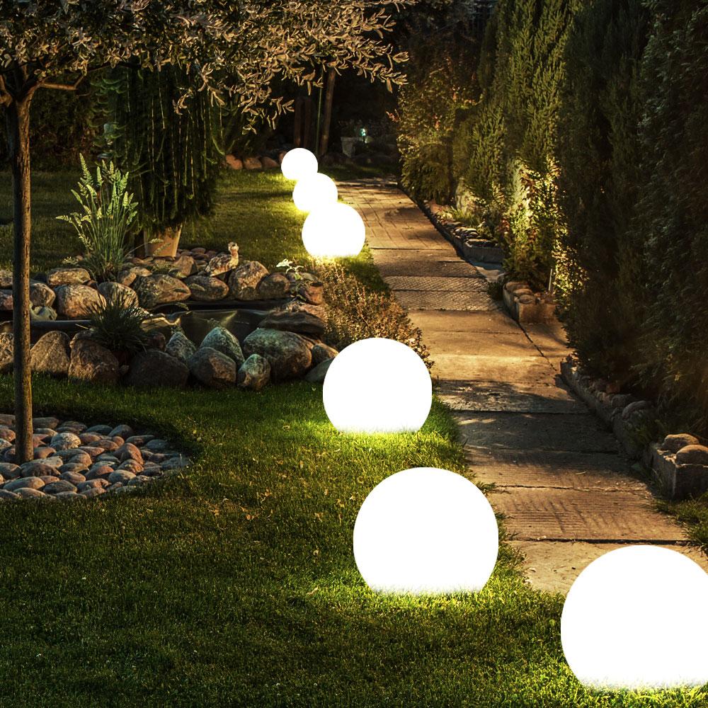 Set Of 6 LED Outdoor Solar Lights In Spherical Shape For The Garden