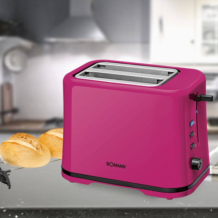 Toaster Cool Touch 2 slices rolls blackberry topping thawing warm-up function  Bomann TA 1577 CB – Bild 2