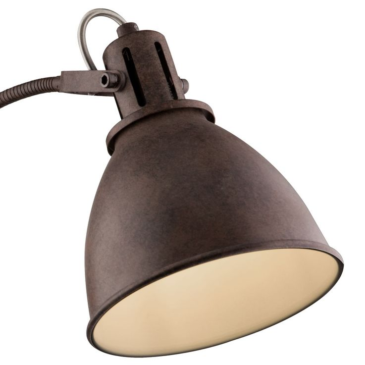 Country style wall lamp rust colored lamp flexo arm spot spotlight lighting  Globo 54647-1W – Bild 6
