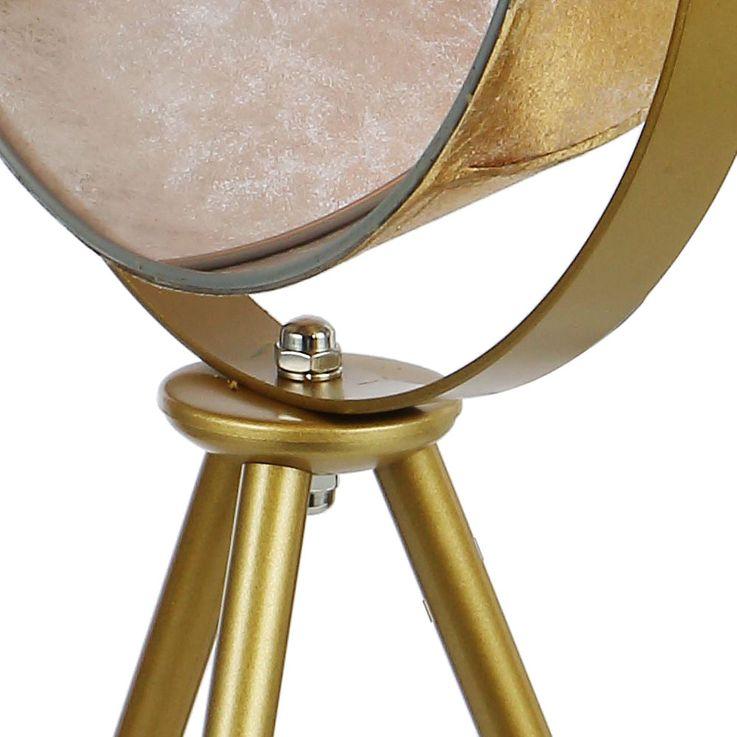 Retro Tisch Leuchte gold Wohn Zimmer Textil Steh Schein Werfer Spot Lampe schwenkbar Globo 58319T – Bild 5