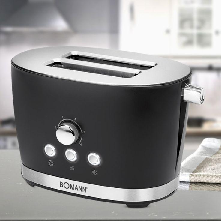 2 Scheiben-Toast Automat mit Cool Touch-Gehäuse in schwarz – Bild 2
