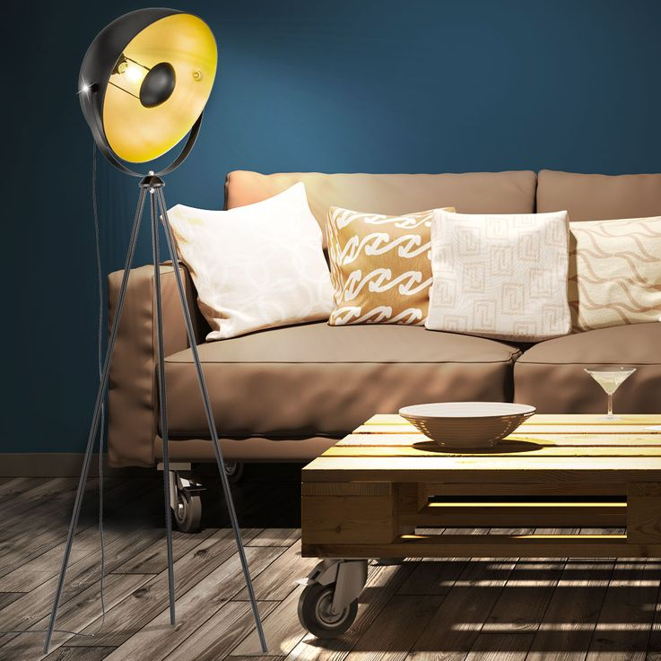 Steh Leuchte Schein Werfer Beleuchtung Wohn Arbeits Zimmer Lampe Spot verstellbar WOFI 3019.01.10.7000 – Bild 4