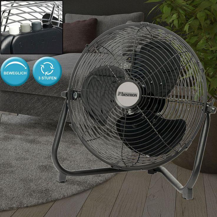 Retro floor fan living room 3 steps stainless steel fan stand cooler adjustable  Bestron DFA30 – Bild 2