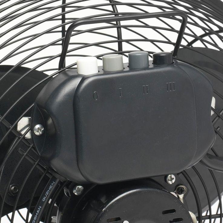Retro floor fan living room 3 steps stainless steel fan stand cooler adjustable  Bestron DFA30 – Bild 4