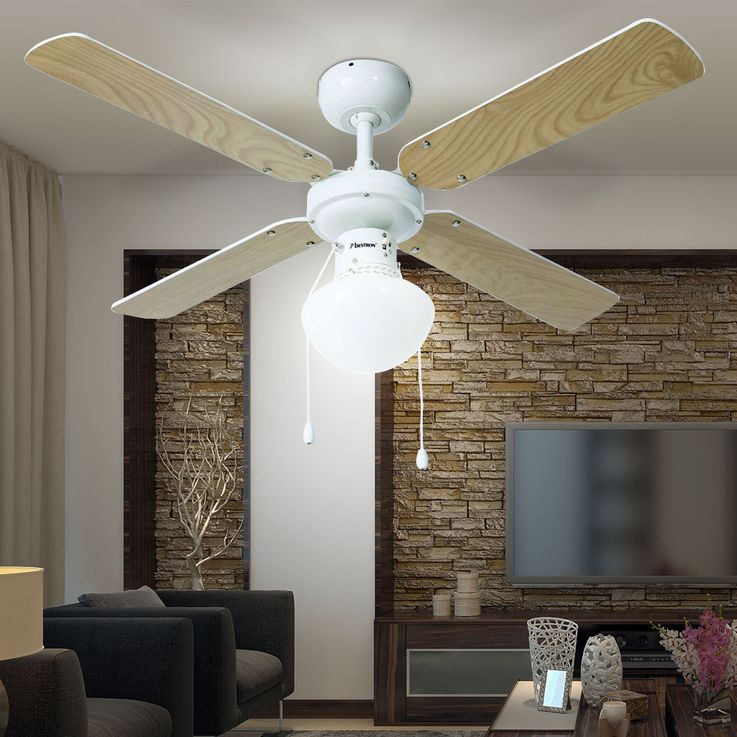 50 watt ceiling fan wing reversible lighting glass lamp fan radiator  Bestron DHB42W – Bild 9
