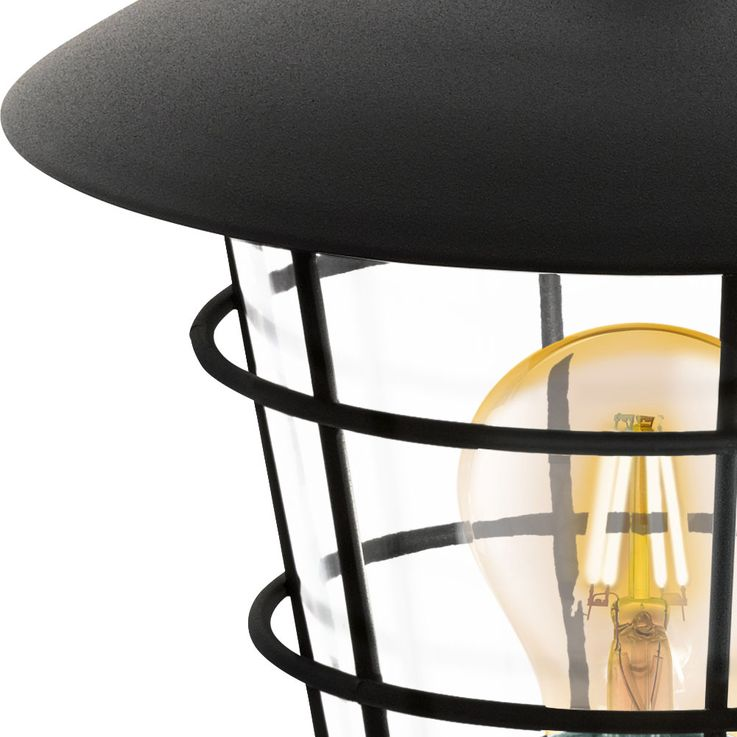 Outdoor Stand Lamp House Door Lighting Garden Path Cage Design Stand Lantern Black  Eglo94836 – Bild 4