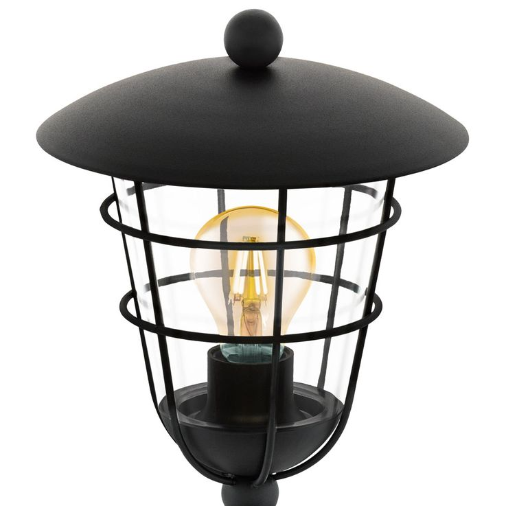 Outdoor Stand Lamp House Door Lighting Garden Path Cage Design Stand Lantern Black  Eglo94836 – Bild 5