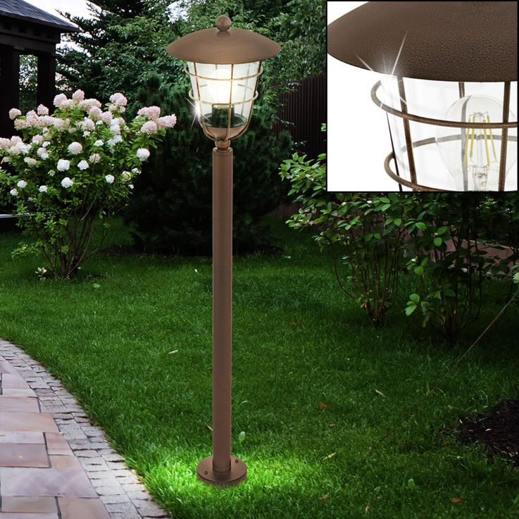 Exterior Lantern House Door Lighting Ways Luminaire Brown Garden Stand Lamp Terrace  Eglo 94836 – Bild 2