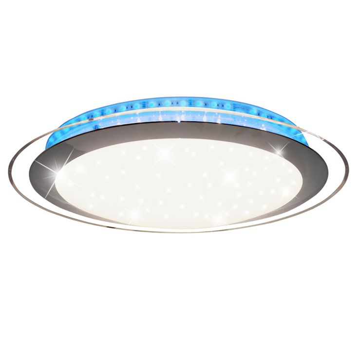 RGB LED Ceiling Lamp Sleep Room Luminaire Stars Effect Spotlight REMOTE CONTROL  Globo 48395 – Bild 1