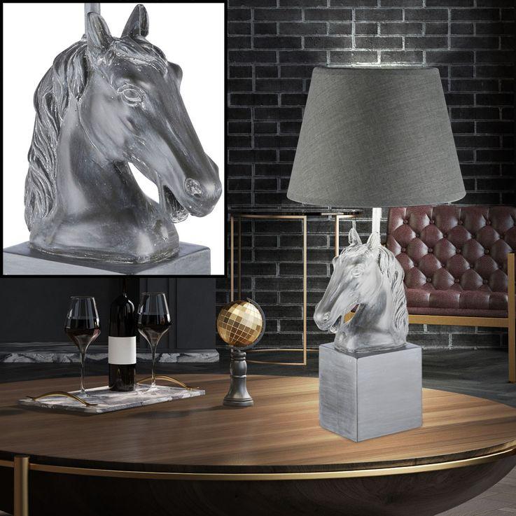 Luminaire chambre d'amis éclairage tête cheval pierre lumière de nuit gris Fischer Leuchten 98163 – Bild 2