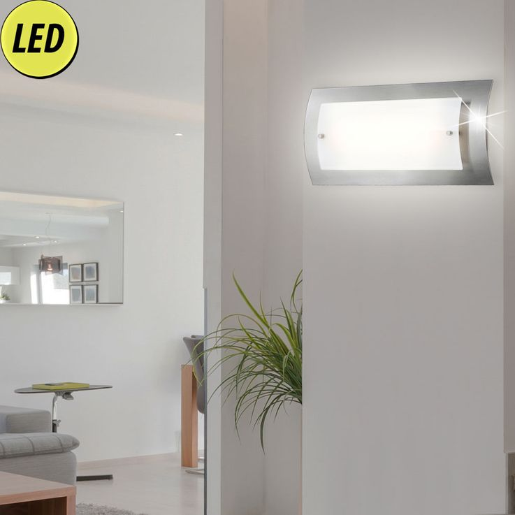 LED Wand Lampe Wohn Zimmer Beleuchtung Glas Strahler Flur Leuchte opal Fischer Leuchten 215561 – Bild 2