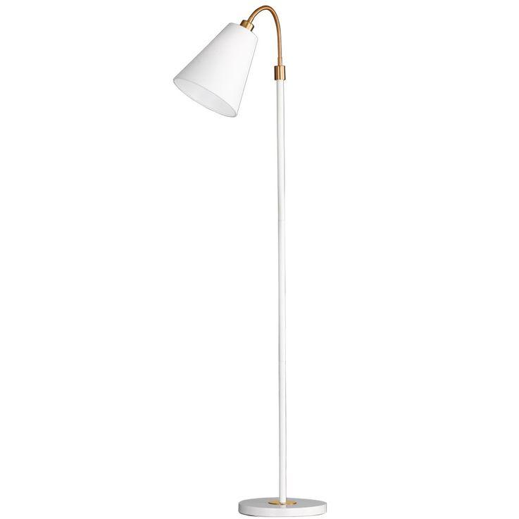 Stand Lighting Spot Spotlight Swiveling Linen Structure Lampshade  Honsel  Leuchten 45431 – Bild 1