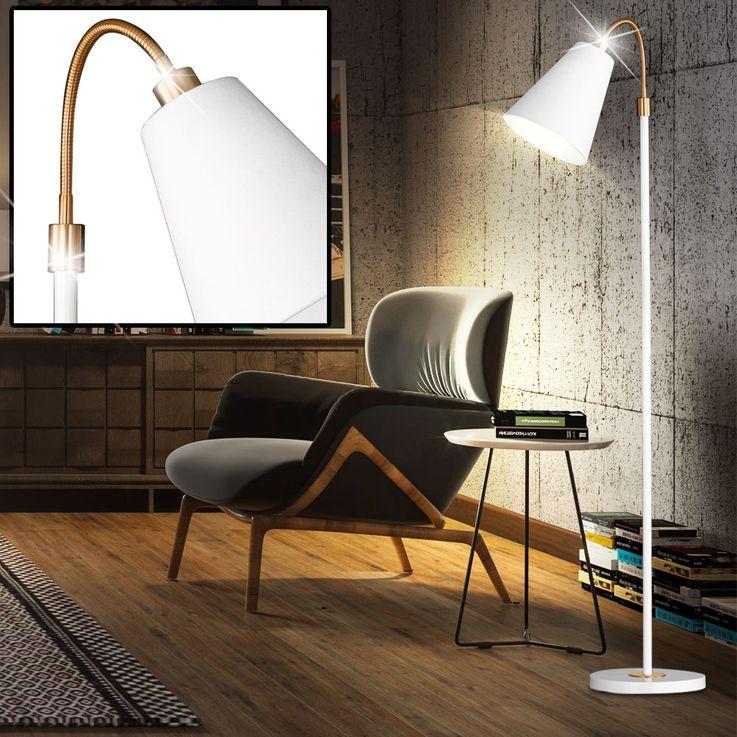 Stand Lighting Spot Spotlight Swiveling Linen Structure Lampshade  Honsel  Leuchten 45431 – Bild 2