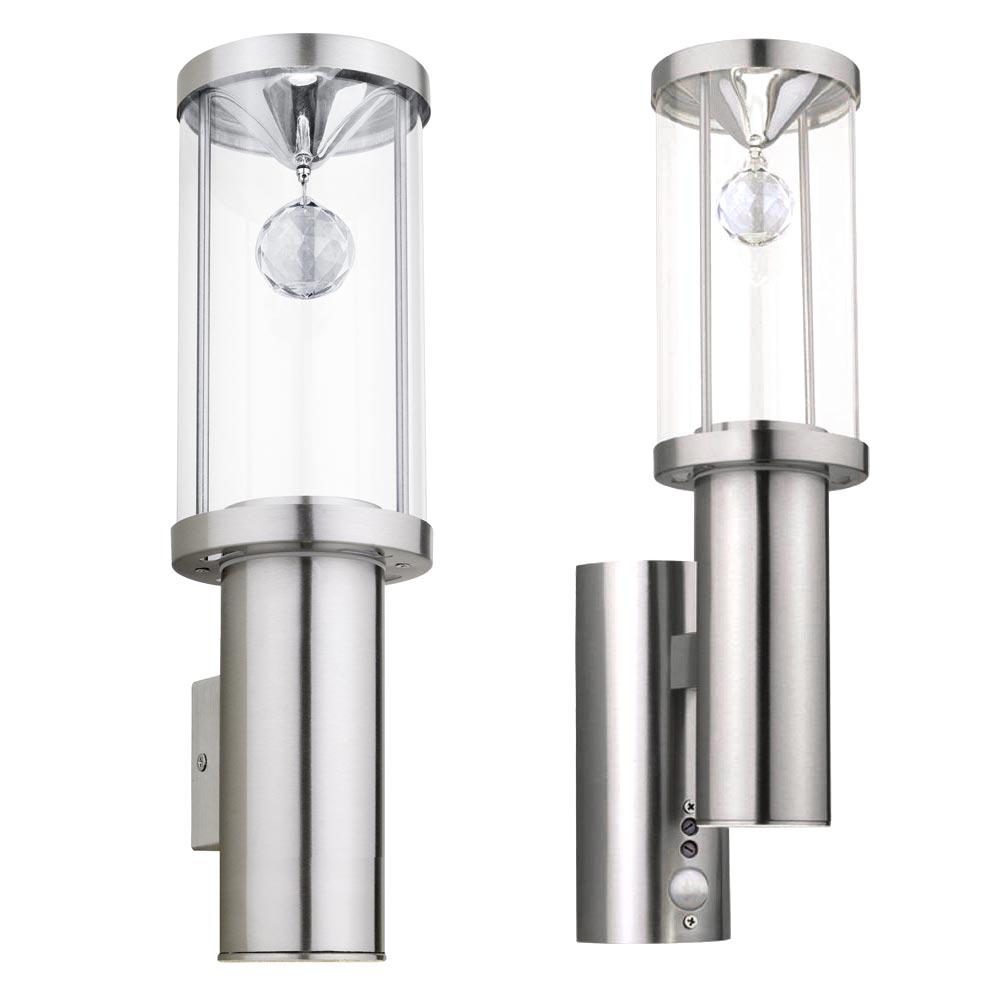 led edelstahl wandlampe mit oder ohne bewegungsmelder trono 2 unsichtbar lampen m bel. Black Bedroom Furniture Sets. Home Design Ideas