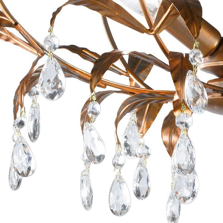 Feuilles design plafonnier lampe verre cristal draperie or lampe E14  Honsel  Leuchten 24181 – Bild 4