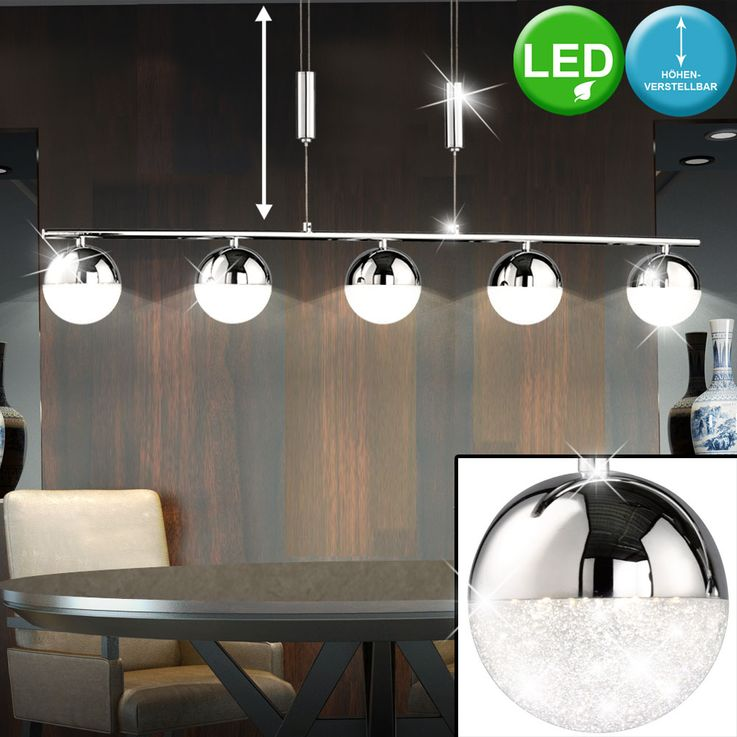 LED pendant lamp with five balls and height adjustment MITRA – Bild 2