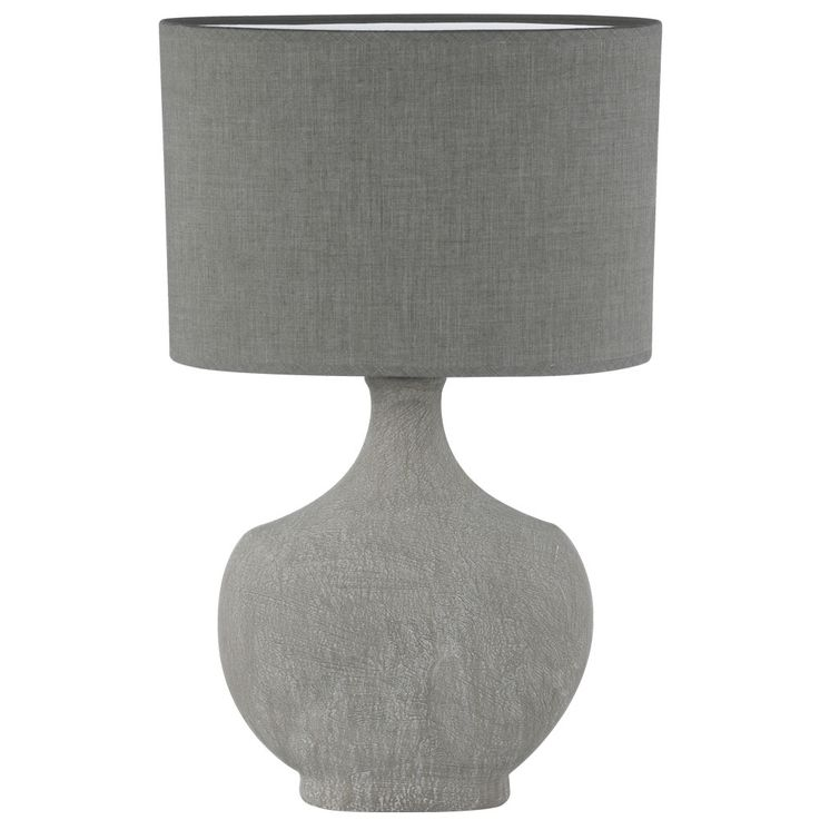 Table lamp living room reading side lamp ceramic textile spotlight gray  Honsel  Leuchten 98160 – Bild 1