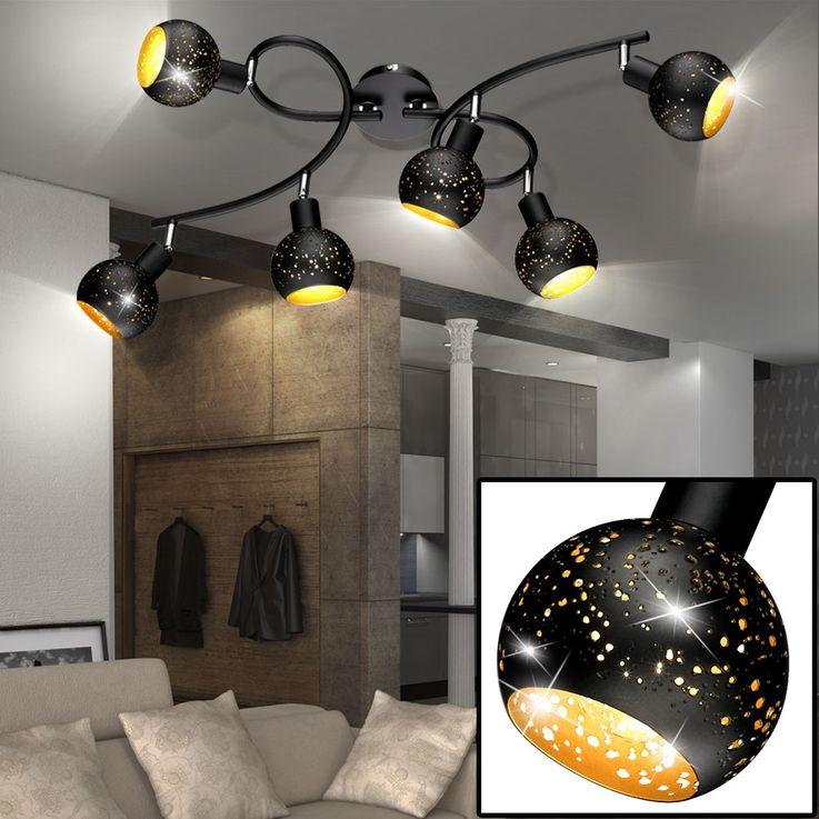 Deckenlampe mit beweglichen Kugelspots, Länge 68 cm, BUCO – Bild 4