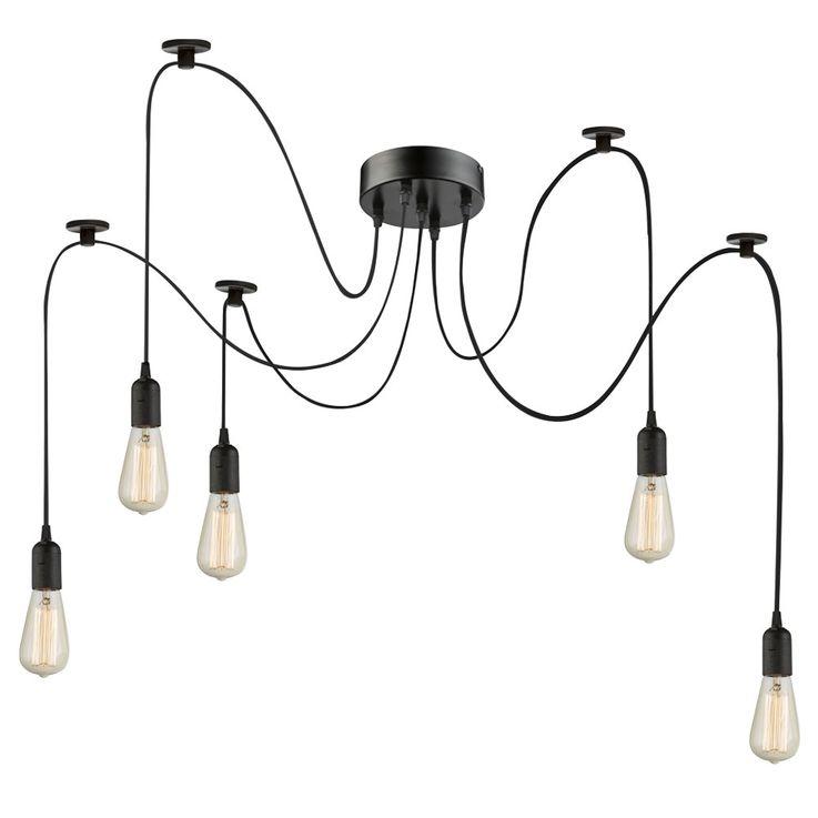 Deckenlampe mit 5 hängenden Fassungen,2x 1,5m, 3x 2m MARACANA – Bild 1