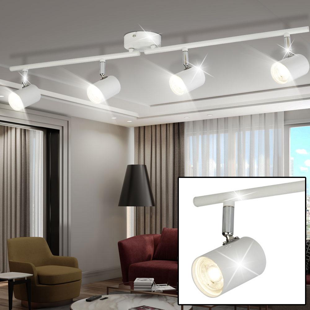 led deckenleuchte mit vier beweglichen spots f r ihren flur lampen m bel innenleuchten. Black Bedroom Furniture Sets. Home Design Ideas