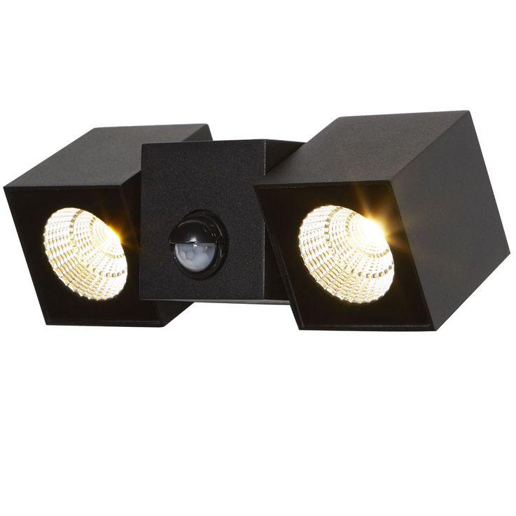 LED outdoor spotlight motion detector wall lamp facades ALU spots adjustable Searchlight 1422  -2BK – Bild 1