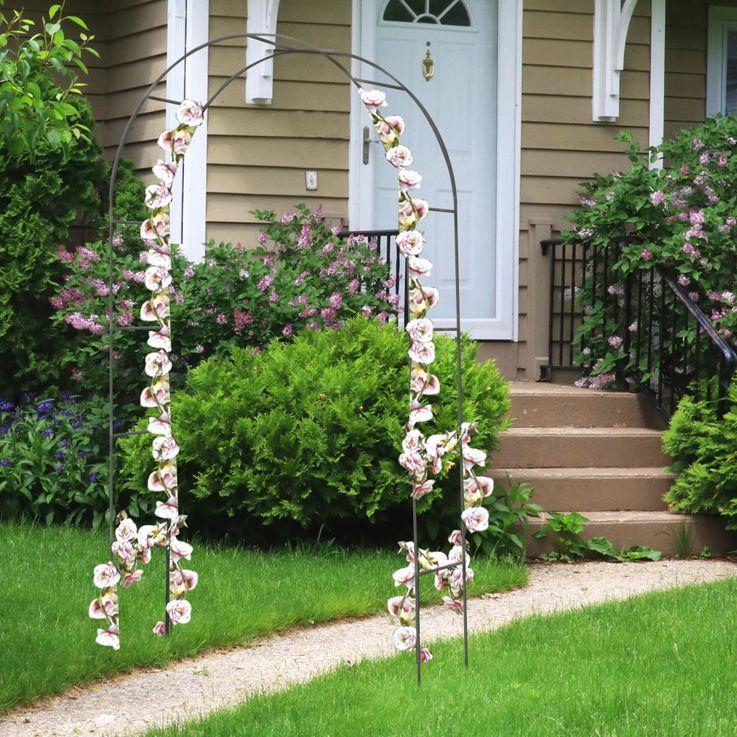Rank Gitter Rosen Bogen Pergola Tor Pflanzen Hilfe Gestell Spalier grün Harms 504740 – Bild 2