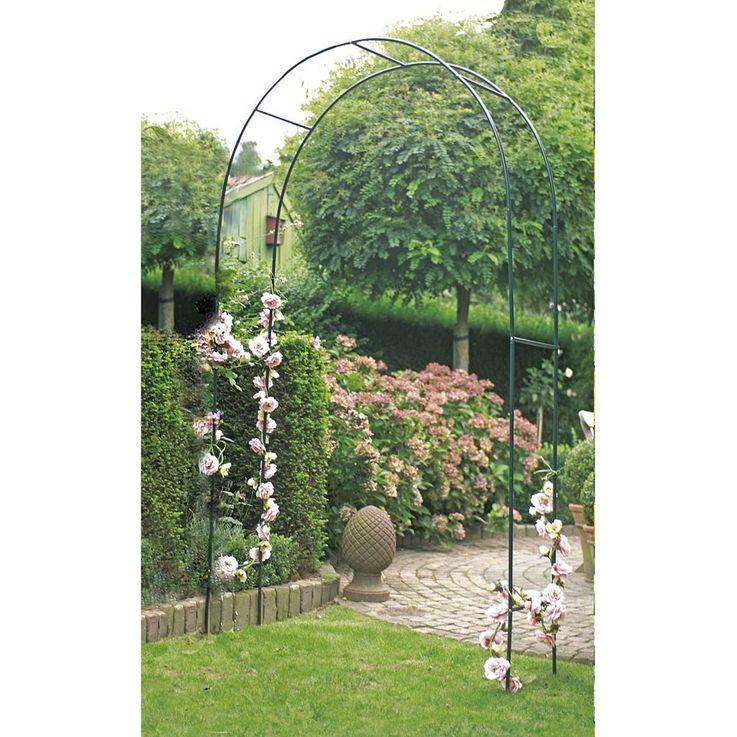 Rank Gitter Rosen Bogen Pergola Tor Pflanzen Hilfe Gestell Spalier grün Harms 504740 – Bild 3