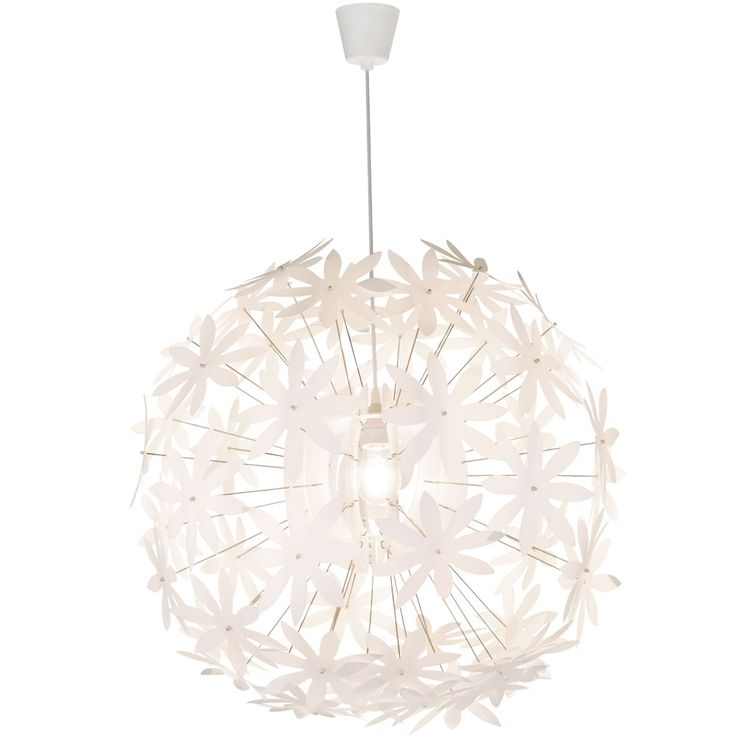 Design pendant lamp sleep room ceiling hanging lamp flower spotlight white  Globo 15024 – Bild 1