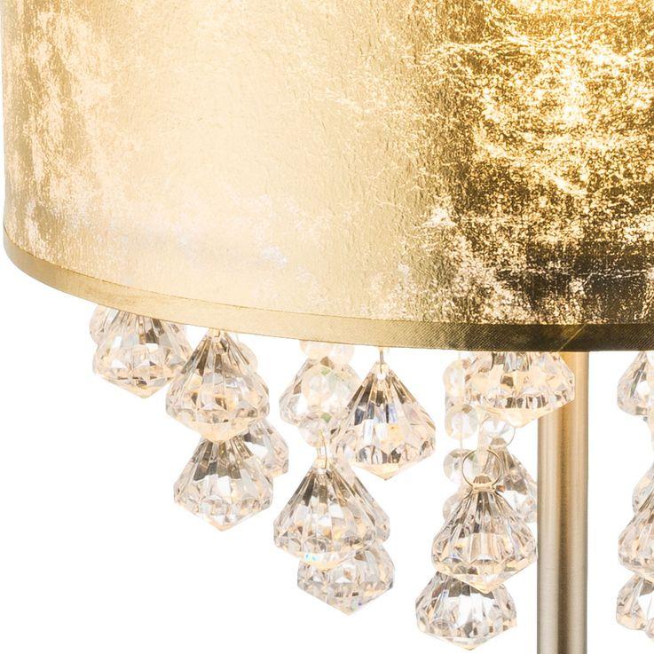 Lampe de Table en Cristal Salon Salle de Sommeil Tissu Lumière de Nuit Feuille Or Design Lampe  Globo 15187T3 – Bild 4
