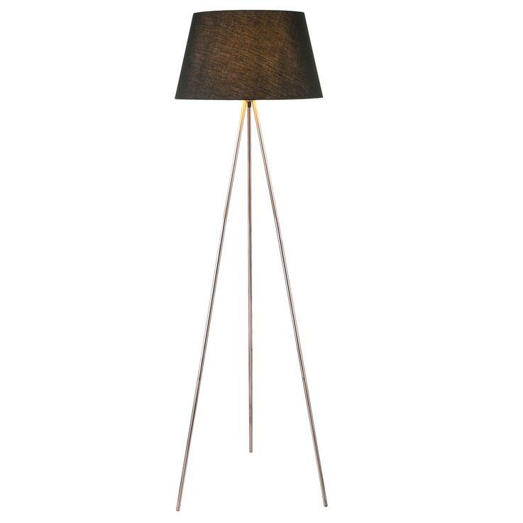 Design Stand Lighting Lighting Textile Lamp Ceiling Floodlight Reading Lamp copper black  Globo 24684c – Bild 1