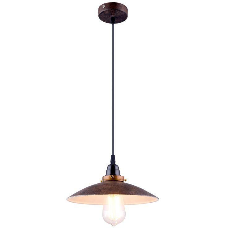 Metal pendant lamp, rust colored, diameter 25.7cm JOFFREY – Bild 1