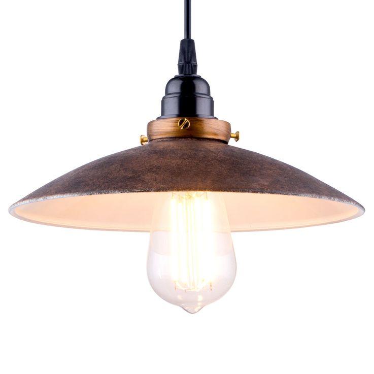 Metal pendant lamp, rust colored, diameter 25.7cm JOFFREY – Bild 4