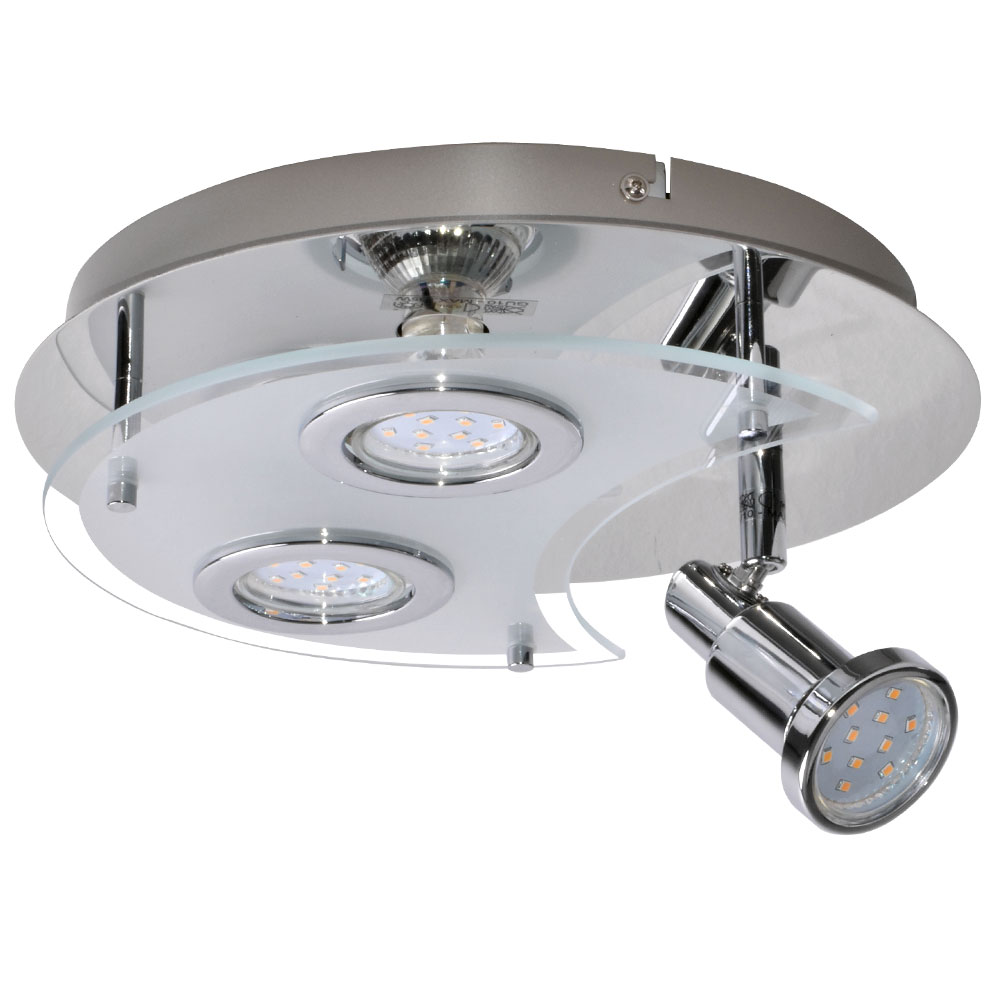 LED Rondell ceiling light with adjustable spot SPLASH Lamps ...