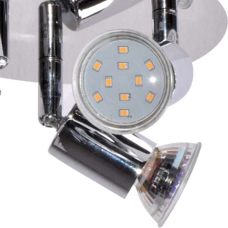 LED Rondell Decken Leuchte Bade Zimmer Wohn Raum Lampe Chrom Strahler verstellbar Briloner 2229-038 – Bild 3