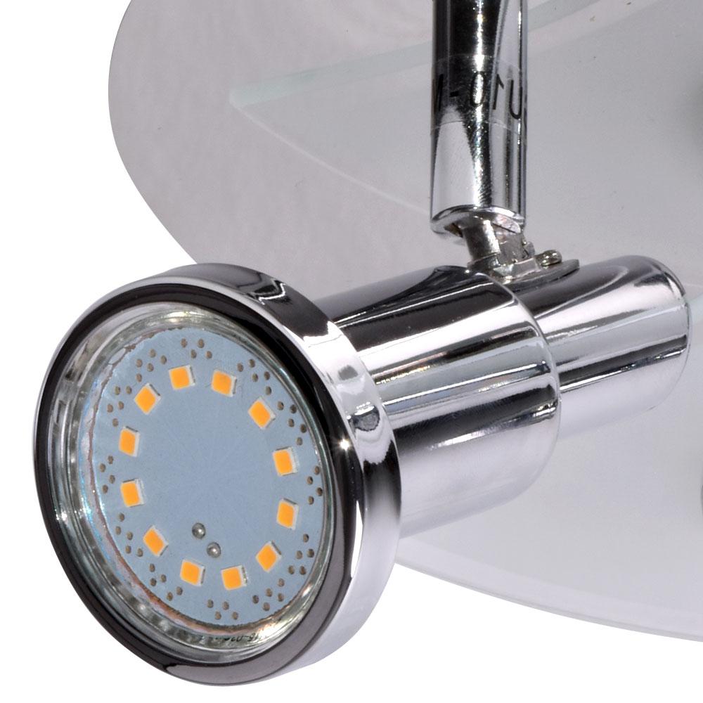 LED Spot Decken Strahler Bade Zimmer Chrom Beleuchtung
