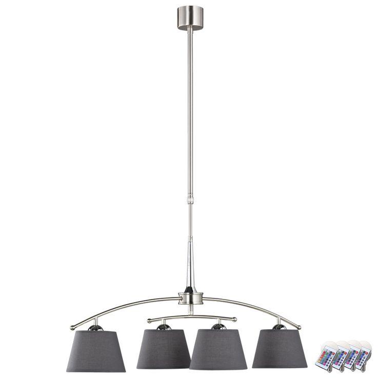 Suspension RVB DEL chrome hauteur 100-140cm Prestige Schirm – Bild 1